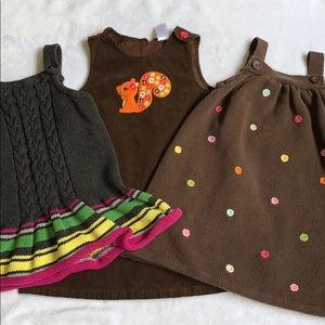 Bundle of 3 Gymboree Dresses Size 4T
